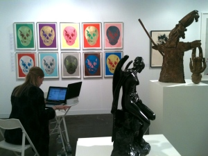 A booth at the Armory Show