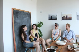 Artists at Clamlab's studio. Photo by Natalie Burlutskaya (c) 2013 for re:artiste