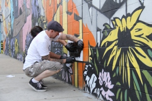Finishing touch. Graffiti of Bushwick. Photo by Natalie Burlutskaya (c) 2013 for re:artiste