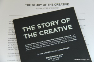 Official Letter of Inclusion of Natalie's artworks | The Story of the Creative