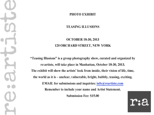 Teasing Illusions, Photography Show announcement