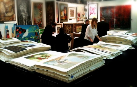 Art sales at Artexpo New York.
