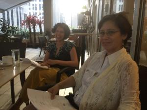 Artists Jayanthi Moorthy and Rebecca Pearson