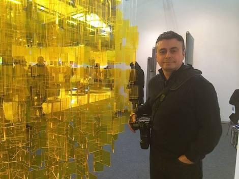 Alvaro Montagna of RE:ARTISTE at The Armory Show.