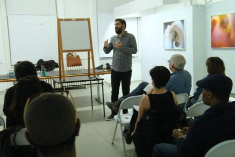 Master Coach Leo Rapini during his session for the artists in New York. Hosted by RE:ARTISTE.