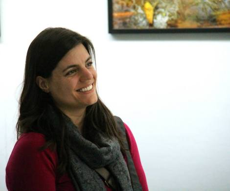 Photographer Larissa Nowak at Leo Rapini's coaching session for the artists at Soho Photo Gallery. Hosted by RE:ARTISTE.