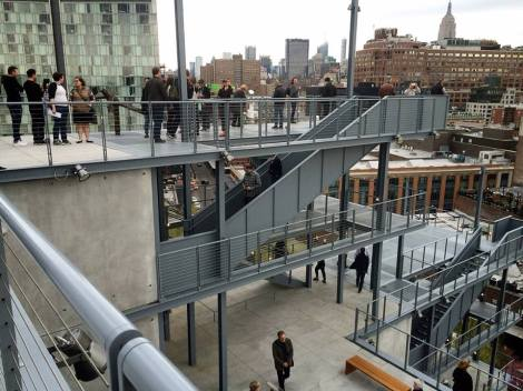 At the Opening of the new Whitney.
