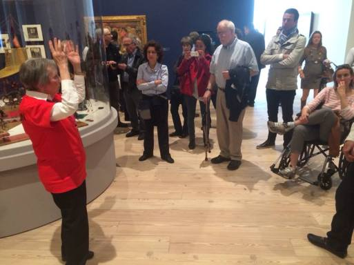 The introductory tour on the very first day of opening.