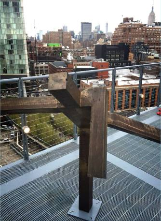 At the terrace of the new Whitney Museum.