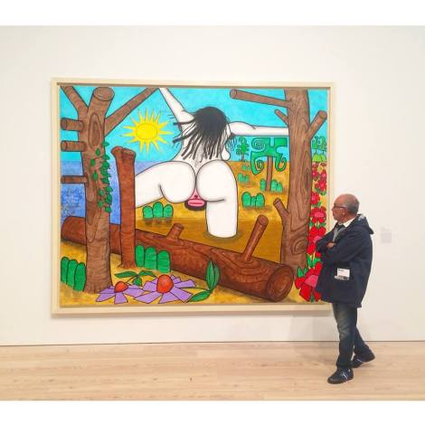 Large Bather, by Carroll Dunham. The New Whitney.
