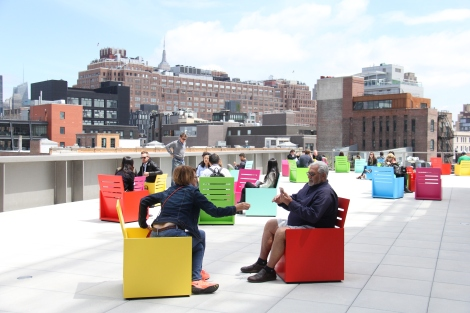 Reflect, read, lounge at the coziest terrace at the new Whitney.