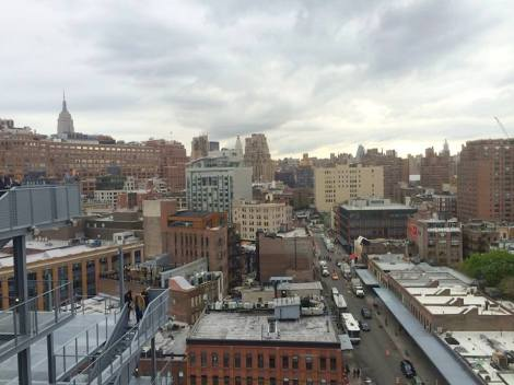 The view from the terrace on the 8th floor of the new Whitney.