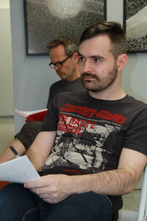Artists Igor Kovalyov and Pierre Yve Linot at the RE:ARTISTE's coaching session
