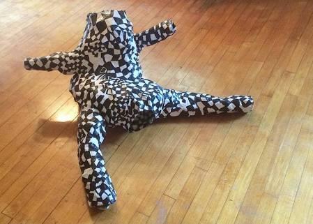 Paper-mache sculpture by Bernice Sokol Kramer, GIAF15