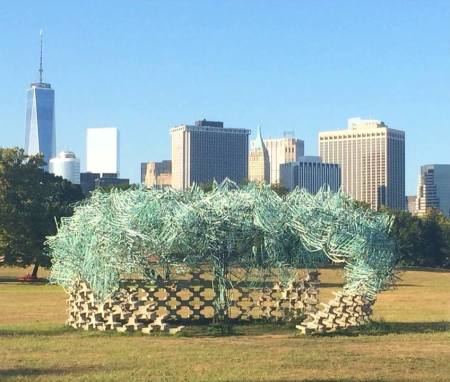 Governors Island during the Art Fair