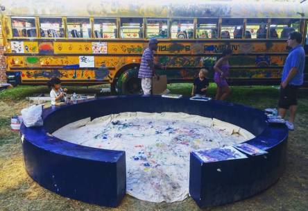 """Paint a School Bus"" - interactive installation and workshop by Alassane Drabo"