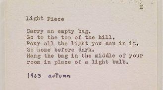 Light Piece, Yoko Ono