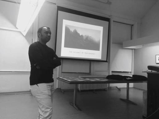 Artist Talk: Photographer Ajit Menon. Part of the Art Fast activities