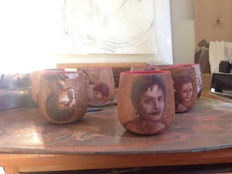 Hadieh-Afshani_painted mugs
